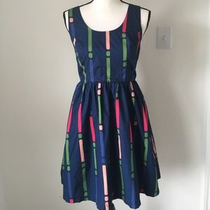 ModCloth Fit & Flare Dress / Size Small